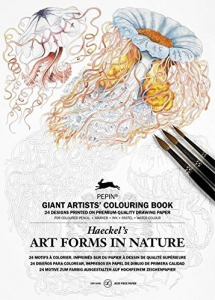 Art Forms in Nature: Giant Artists' Colouring Book