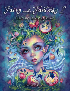 Fairy and Fantasy 2 Line Art Coloring Book