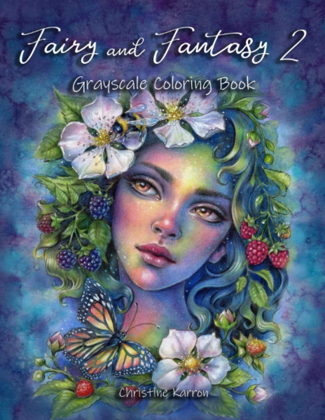 Fairy and Fantasy 2 Grayscale Coloring Book
