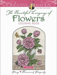 The Beautiful Language of Flowers Coloring Book