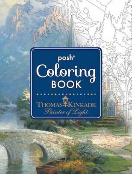 POSH Adult Coloring Book. Painter of Light
