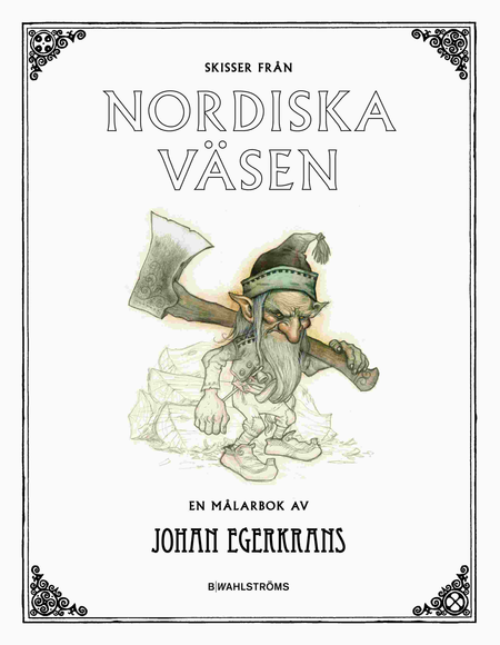 Sketches from Vaesen coloring book. Nordyckie istoty i bogowie
